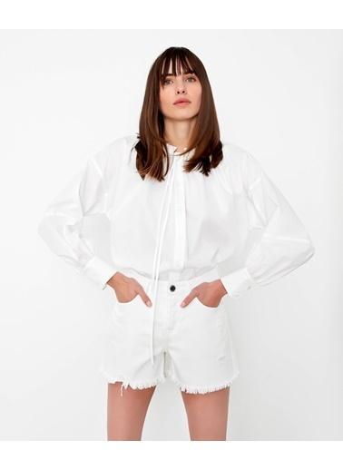 Ipekyol Kadın  Gömlek IS1200025262 Beyaz